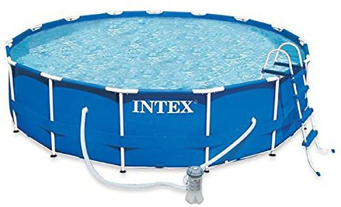Intex pools metal frame pool 457 x 122 cm komplett set for Garten pool 457x122