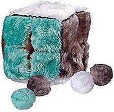 Trixie Plüschwürfel mit 4 Catnip-Bällen (14 cm)