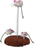 Trixie Mouse Family auf Feder (15 x 22 cm)