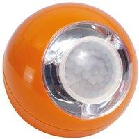 GEV LED Lichtball mit Bewegungsmelder orange