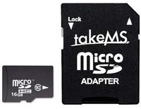 takeMS microSDHC 16GB Class 10 (93311)