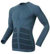 Odlo Shirt l/s crew neck Evolution Warm Men blue sapphire / black