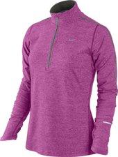 Nike Element mit Kurzreißverschluss Frauen Laufshirt rosa