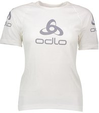 Odlo Shirt s/s Crew Neck Logo Line Women white