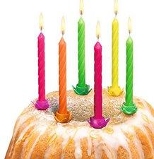 Susy Card Geburtstagskerzen Neon