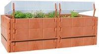 Juwel Terrassen-Hochbeet / Balkon-Hochbeet terracotta