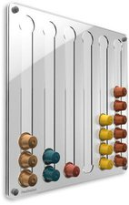 PlexiDisplays Wand-Kapselhalter für Nespresso Klassik