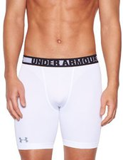 Under Armour Men's HeatGear Sonic Compression Shorts white