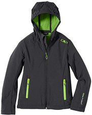 CMP Campagnolo Girls Softshell Jacket Fix Hood Antracite-Frog