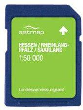 Satmap Hessen. Saarland & Rheinland-Pfalz 1:50k