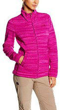 The North Face Women's Crescent Sunset Fleece Hoodie Dramatic Plum Stria Print