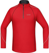 Gore Essential Zip Shirt lang red