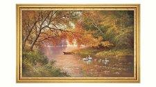 "Home Affaire Wandbild  ""Swan family II "" (113x73cm)"