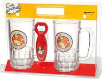 United Labels Biergläser Set mit Öffner Simpsons 540 ml