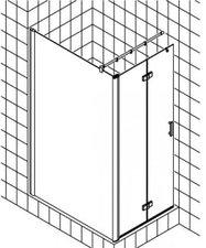 Kermi Diga Walk-In Duschwand mit Pendel-Falttür (Typ T2)