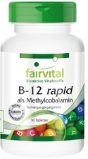 Fairvital B 12 rapid Methylcobalamin Tabletten (90 Stk.)