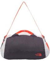 The North Face Flyweight Duffel Bag asphalt grey/fiery red