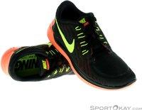 Nike Free 5.0 2015 Women black/bright mango/volt