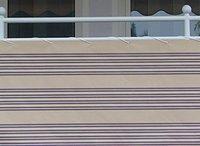 Angerer Balkonbespannung 90cm x 8m Streifen beige