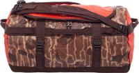The North Face Base Camp Duffel S brunette brown catalog print