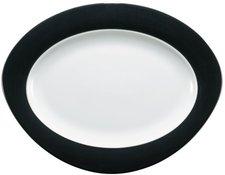 Seltmann Weiden Trio Platte 31 cm oval schwarz