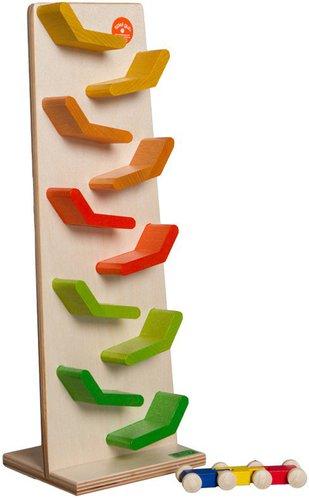 Beck-Spielwaren Kaskadenturm bunt gebeizt