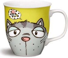 Nici Tasse Comic Cats graue Katze