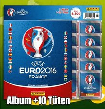 Panini UEFA Euro 2016 Sammelalbum mit 10 Stickertüten