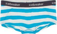 Icebreaker Sprite Hot Pants Stripe (103111) cyan / snow / panther