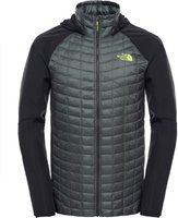 The North Face Men's Thermoball Hybrid Hoodie Jacket Spruce Green / Tnf Black