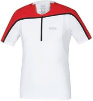 Gore Fusion Zip Shirt (SZSULT) white / red
