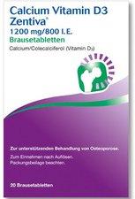 Winthrop Calcium Vitamin D3 Zentiva 1200 mg/800 I.E. Kautabletten (20 Stk.)