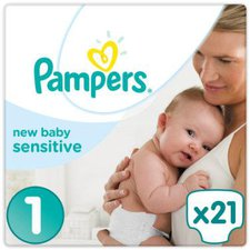 Pampers Premium Protection Sensitive New Baby Größe 1 (2-5Kg)
