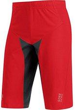 Gore Alp-X Pro Windstopper Soft Shell Shorts red / black