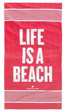 Tom Tailor Strandtuch Life Is A Beach rot (85x160cm)