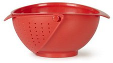 Umbra Rinse Bowl and Strainer  red