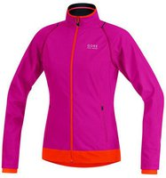 Gore Element Windstopper Active Shell Zip-Off Lady Jacke jazzy pink / blaze orange