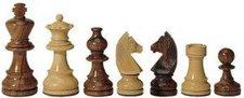 Weible Spiele Schachfiguren Teak + Buchsbaum KH 76 mm