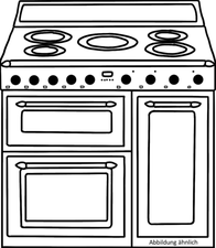 Falcon Elise 90 Range Cooker - Cherry Red