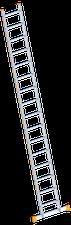 layher Sprossenanlegeleiter breit mit Traverse 16 Sprossen (1054116)