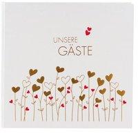 Goldbuch Gästebuch Golden Hearts 25x23/176