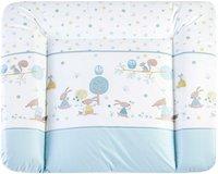 Zöllner Wickelauflage Softy Folie Happy Animals blau 75 x 85
