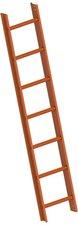 layher 7 Sprossen, Kupferbraun (1051107)