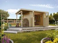 weka Holzbau Gartenhaus 321 mit 115 cm Anbau Gr. 1 (369 x 250 cm)