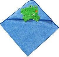 Morgenstern Kapuzen-Badetuch Krokodil blau
