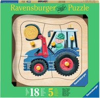 Ravensburger Holzpuzzle Blauer Traktor