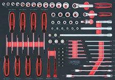 "KS Tools 75-tlg. Satz 1/4 ""+3/8 ""+1 (711.0075)"