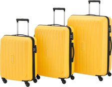 Travelite Uptown Spinner-Set 55/65/75 cm yellow