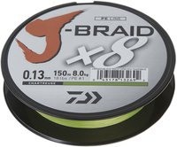 Daiwa J-Braid X8 chartreuse 300m 0,10mm