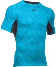 Under Armour Men's HeatGear Compression Short Sleeve Printed meridian blue